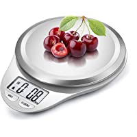 Digital Kitchen Scale with Wide Stainless Steel Plateform High Accuracy Multifunction Food Scale with LCD Display for…