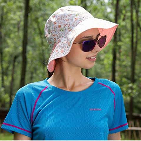 6a11bacd773 Ubestyle Outdoor Beach Travel Hat Women UPF 50+ Reversible Bucket Hats