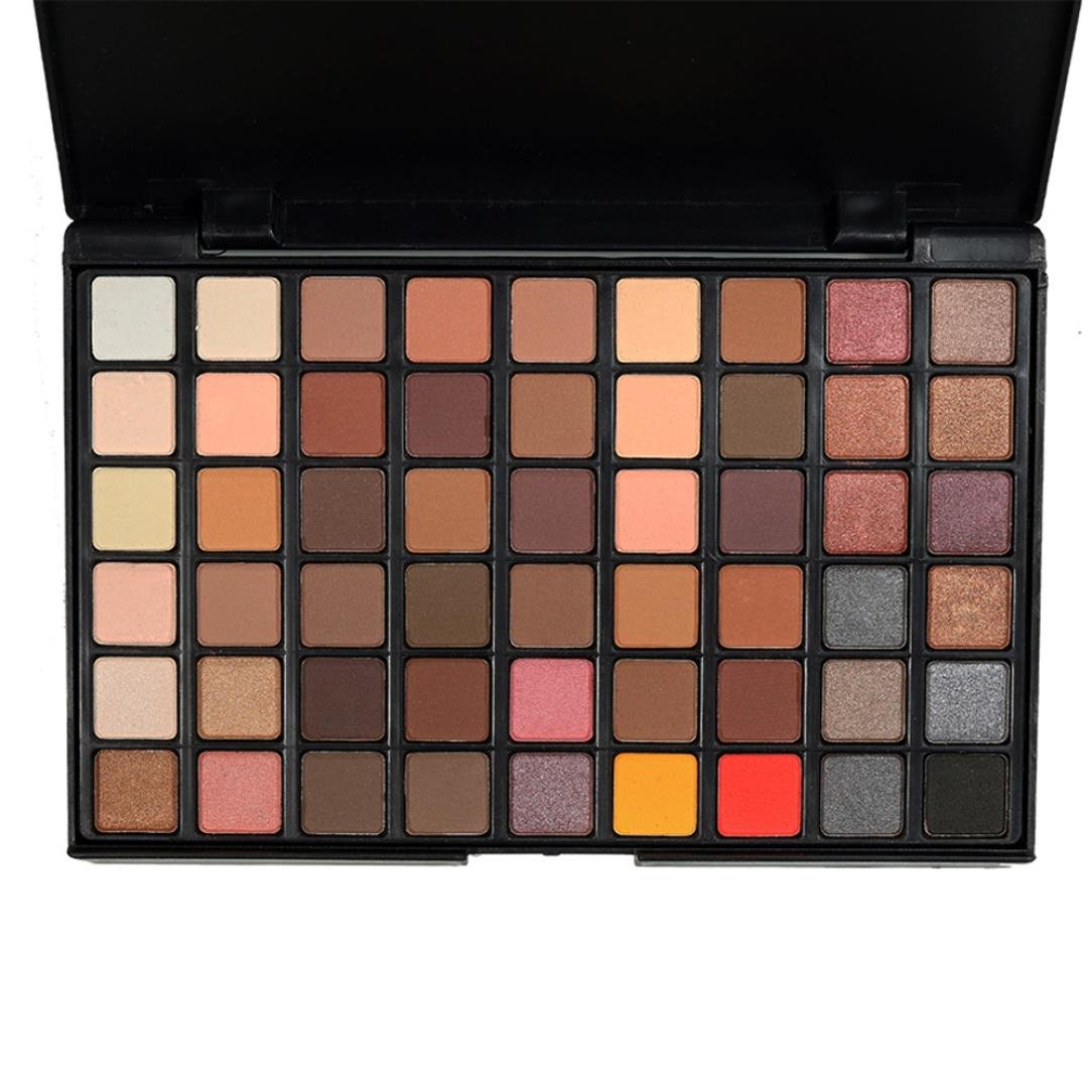 Eyeshadow Palette,VNEIRW 54 Colours+Matt+Shimmer Makeup Press Powder Eye Shadow Pallette Set (A)