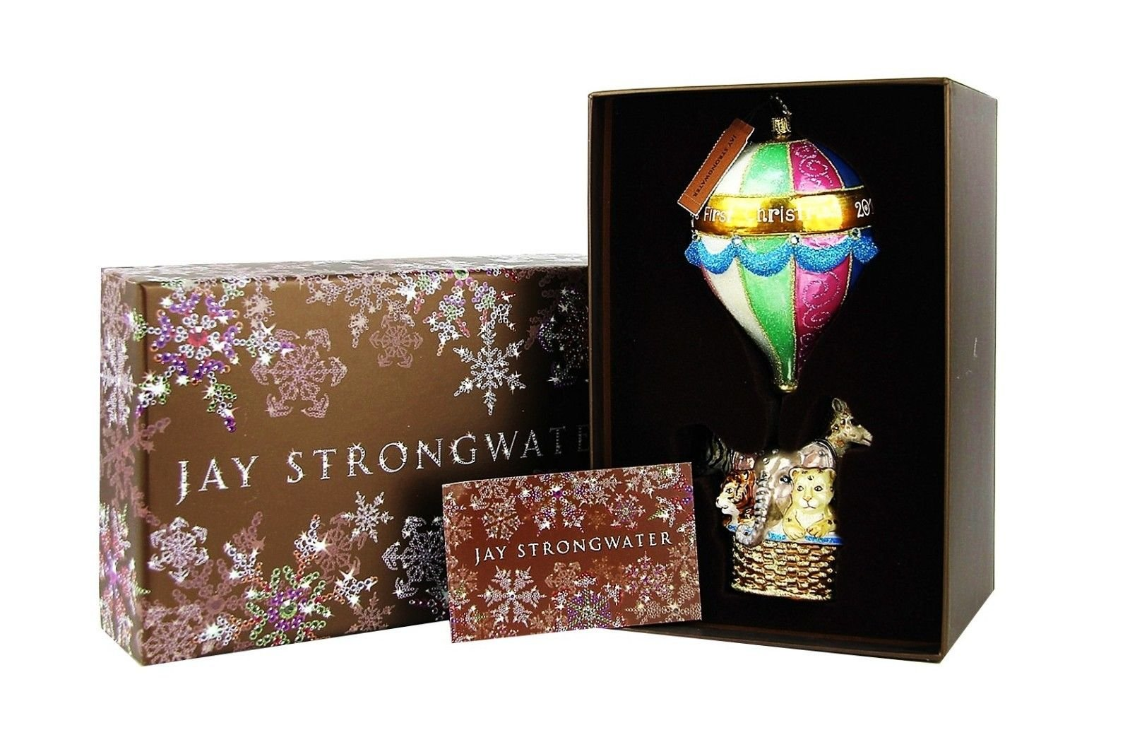 JAY STRONGWATER Baby's First Christmas - Hot Air Balloon Ornament