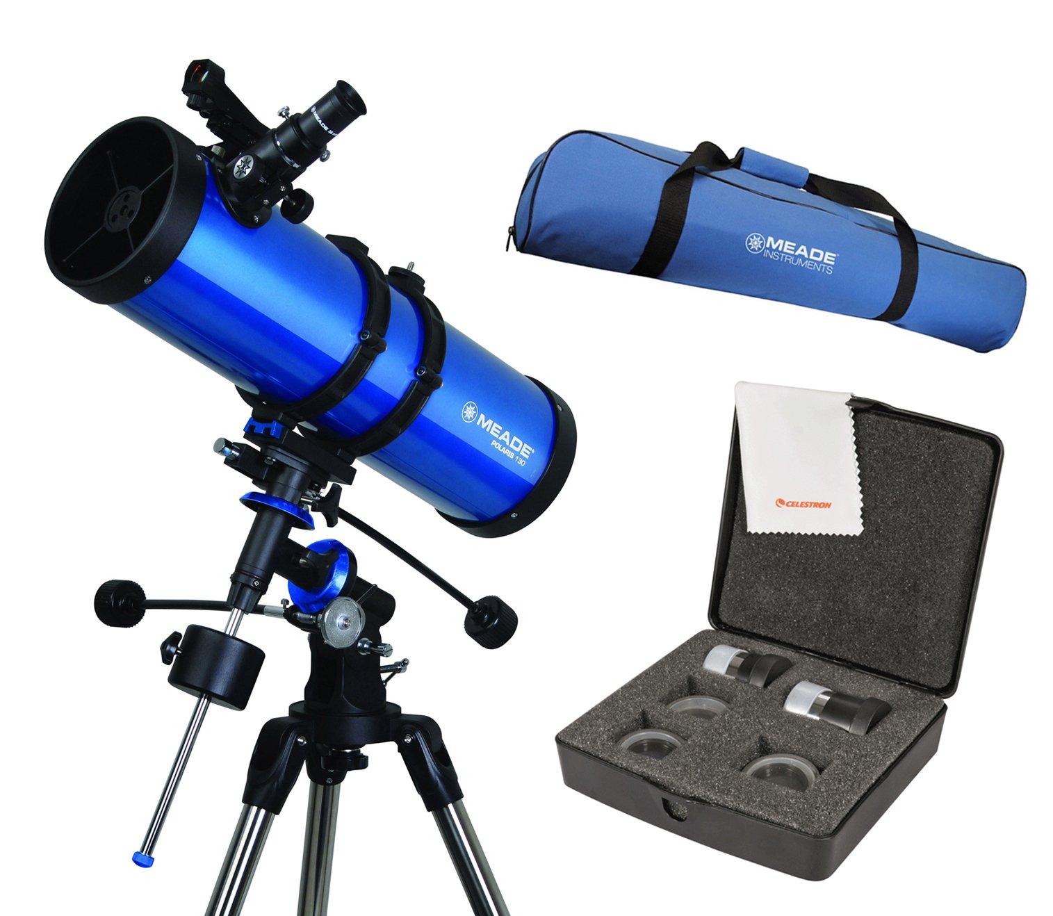 Meade Polaris 130mmTelescope w/ Travel Bag & Eyepiece Accessory Kit by Meade