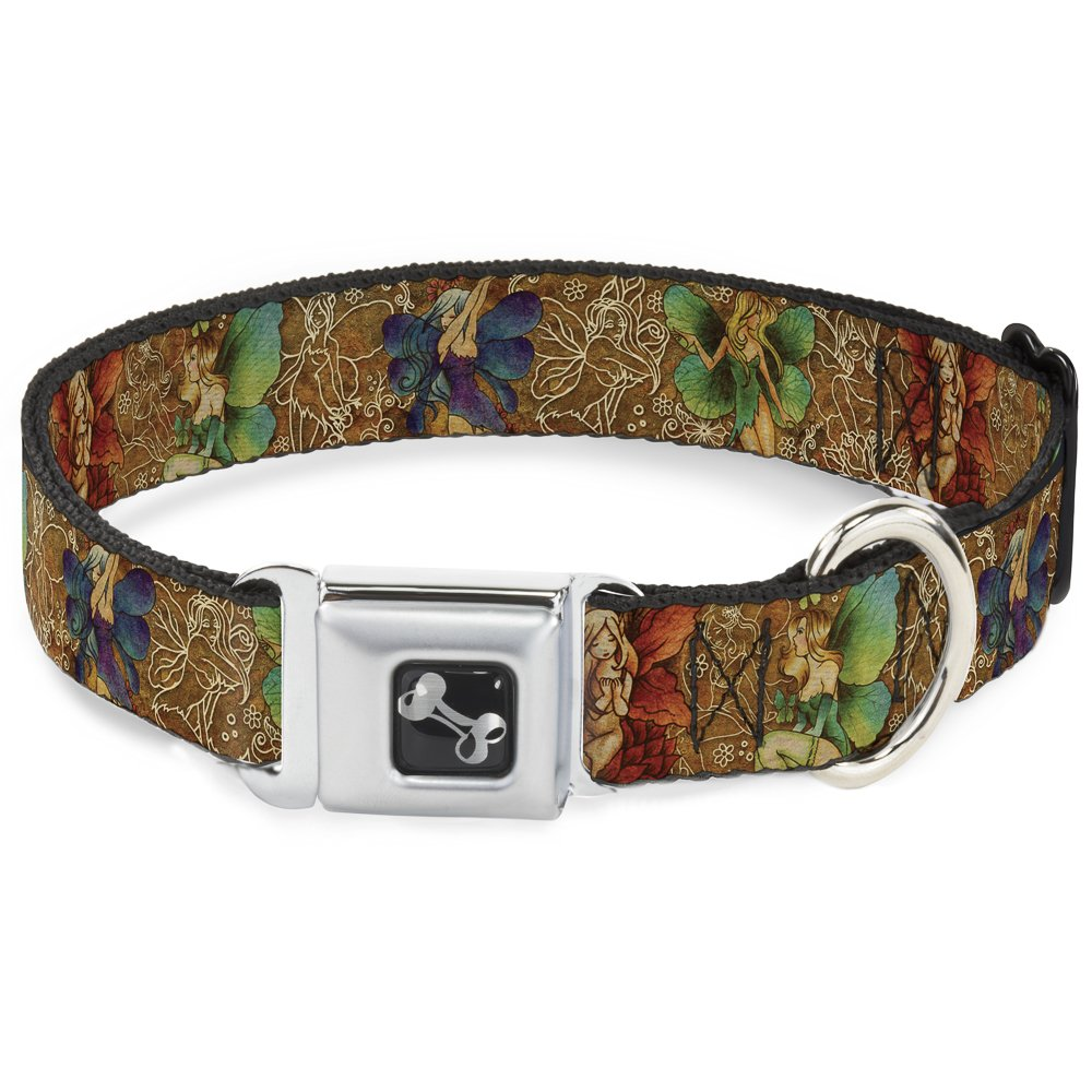 TJ-Fairy Nail Biter 1\ TJ-Fairy Nail Biter 1\ Buckle-Down Seatbelt Buckle Dog Collar TJ-Fairy Nail Biter 1  Wide Fits 15-26  Neck Large