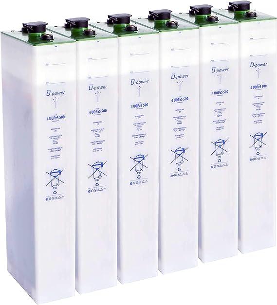 Master U-Power Batería Solar, 4 UOPZS 500 12V Mas de 15 años de Vida, Verde: Amazon.es: Electrónica