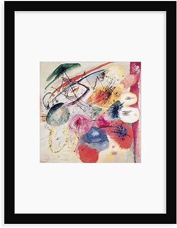 1913 Lein-Wand-Bild Kunstdruck Wassily Kandinsky Schwarze Linien