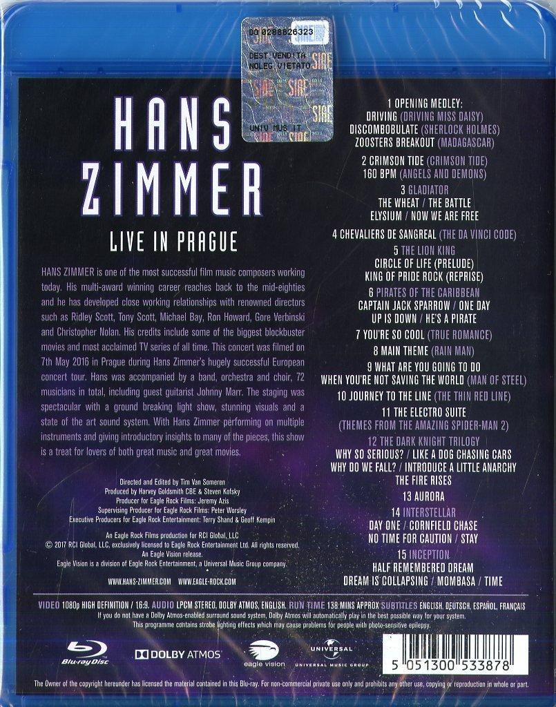 Live in Prague [Blu-Ray]: Amazon co uk: Hans Zimmer, Czech
