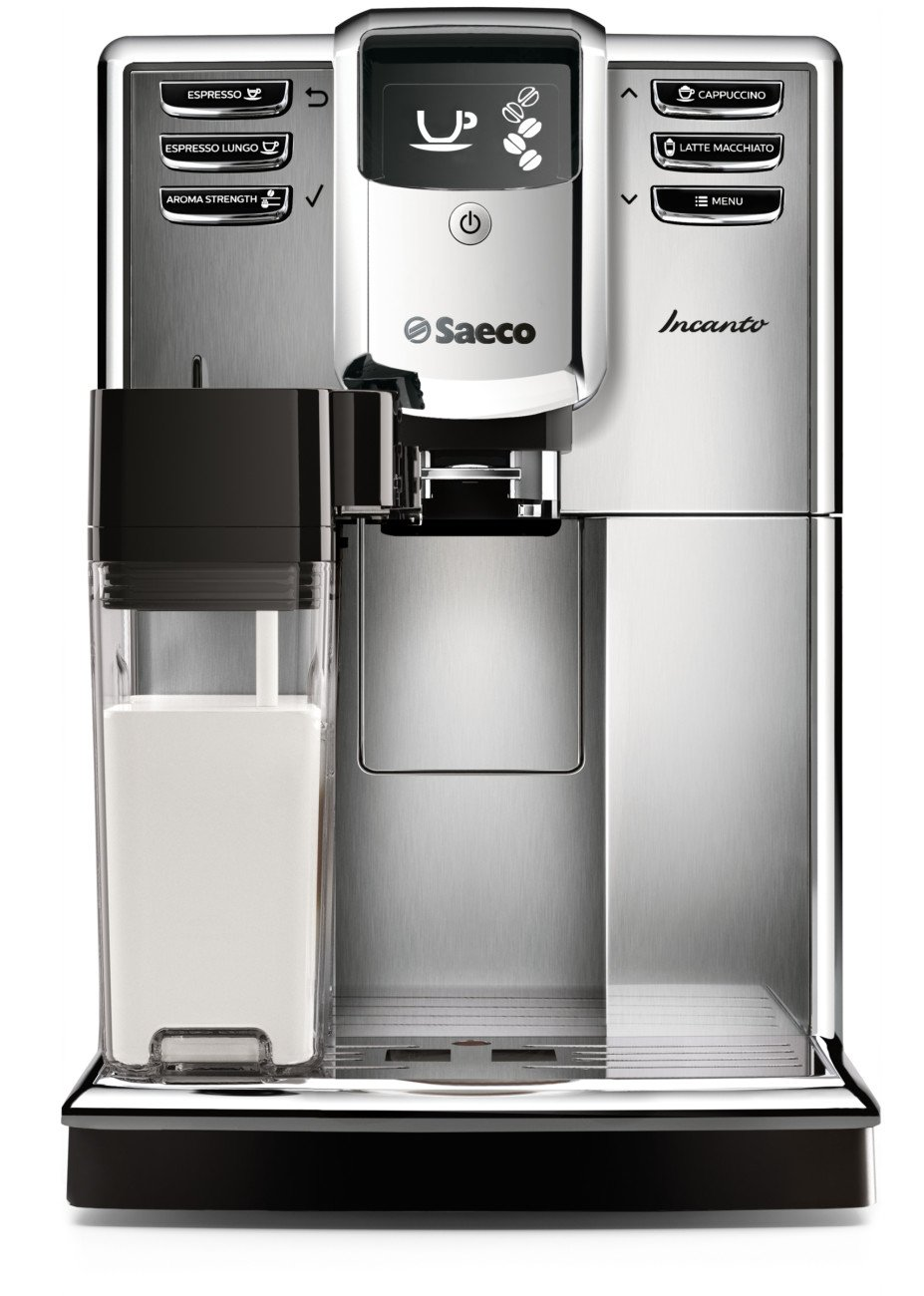 Saeco Incanto Carafe Super Automatic Espresso Machine with AquaClean filter, Stainless Steel, HD8917/48 by Saeco