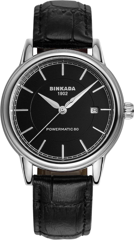BINKADA自動機械ブラックダイヤルメンズ腕時計# 709502 – 2 B01DZLYXG2