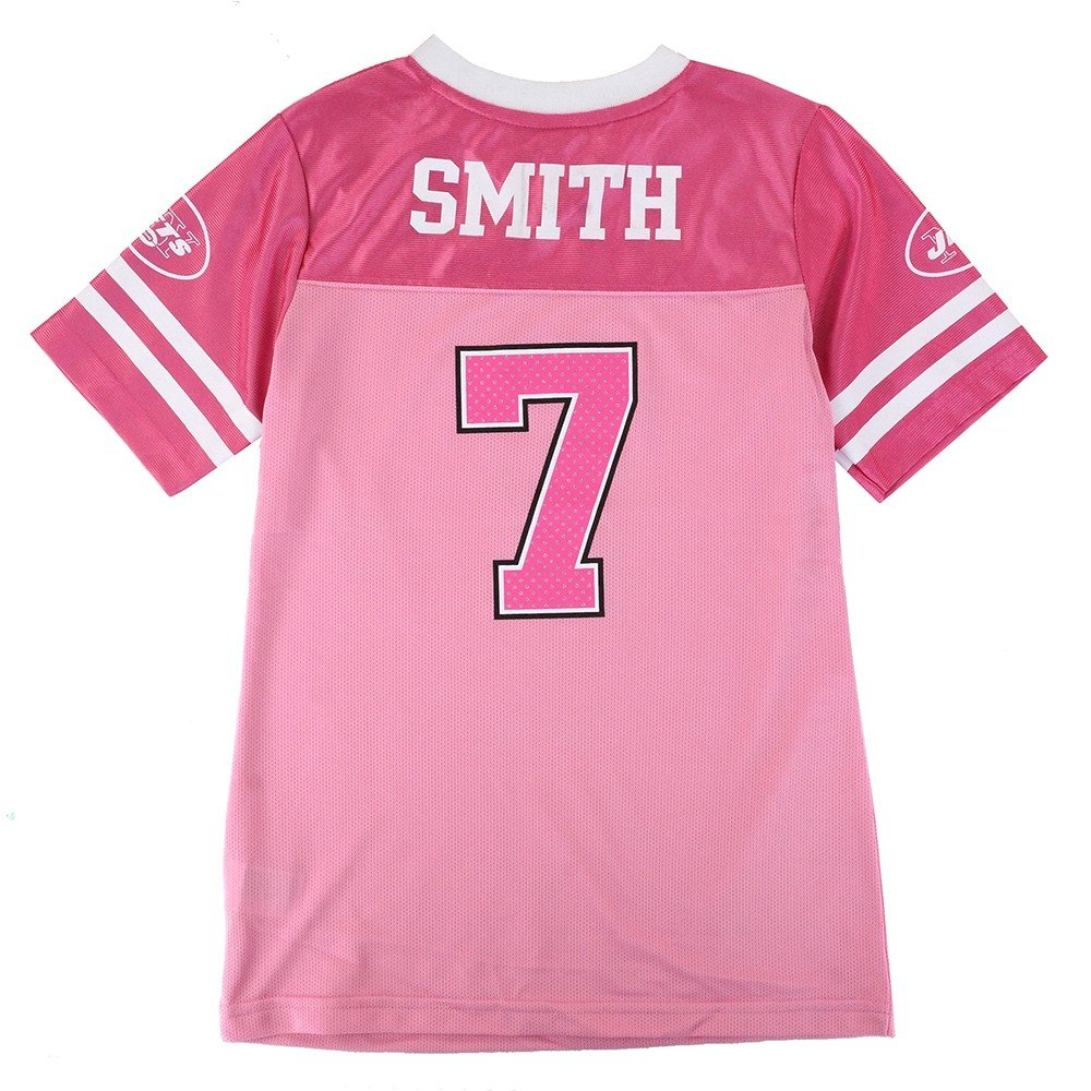 ca14368f Amazon.com : Outerstuff Geno Smith NFL New York Jets Fashion Pink Jersey  Youth Girls (7-16) : Clothing