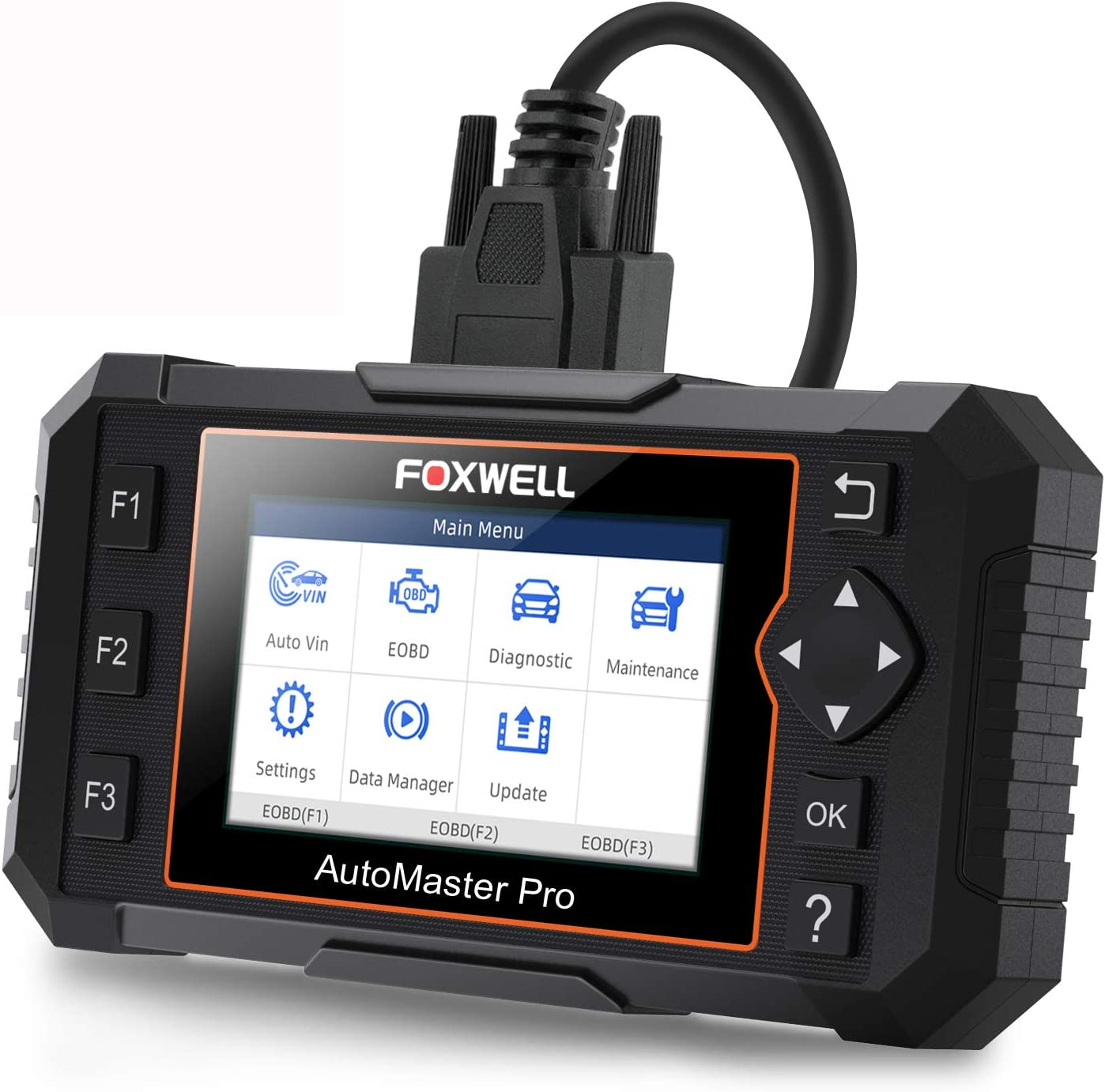 FOXWELL NT624 Elite Automotive OBD2 Scanner Full-System Car Code Reader Diagnostic Scan Tool with Oil Light Reset and EPB Service Functions (2019 Latest Version)