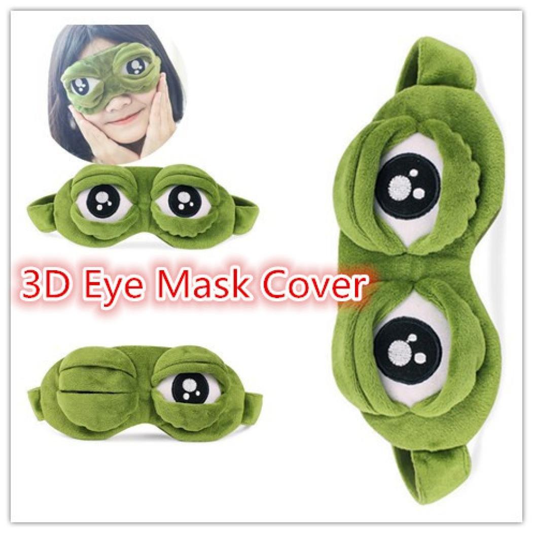 Sensail Kawaii Style Masque De Sommeil 3D Grenouille Design Masque pour yeux dormir