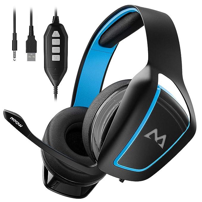 【Black Friday】Mpow EG1 Auriculares Cascos Gaming con Sonido 7.1, Cancelación de Ruido