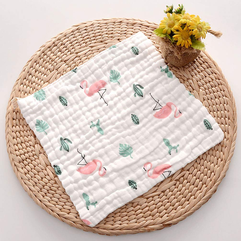 AODEW Organic 100% Cotton Baby washcloths 2 Pack, 12 x 12in Extra Soft Premium Reusable for Newborn face and Sensitive Skin