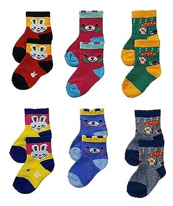 b981111c98da1 SioTM Premium Cotton Woolen Mix Baby Boys/Girls Socks (6 Month to 5 Yrs