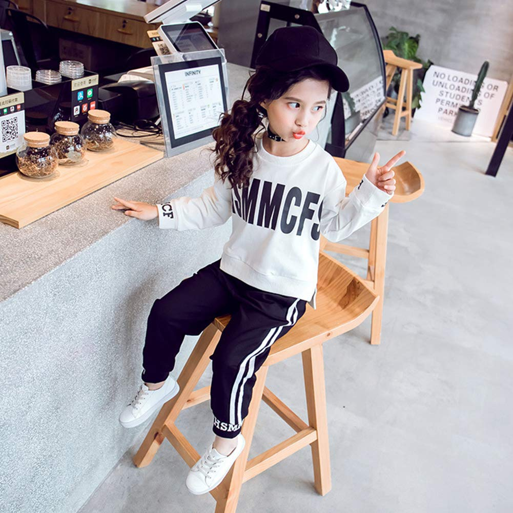 M/&A Girls 2 Pieces Sweatsuits Pullover Sweatshirt and Pants