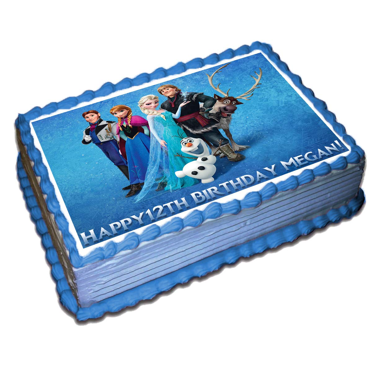 """Frozen Olaf Personalised Cake Topper 7.5/"""" Olaf Edible Wafer Paper Party/'s"""