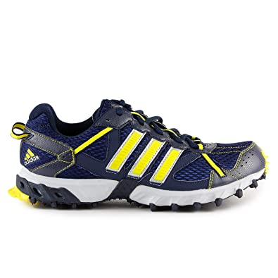 Adidas Thrasher 2 M Running Shoes - Navy Blue/Yellow (Mens) - 12