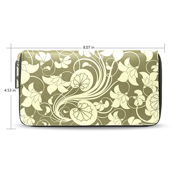 Senya mujeres largo titular de la tarjeta con cremallera de embrague tipo cartera bolso de mano, diseño de flores: Amazon.es: Ropa y accesorios