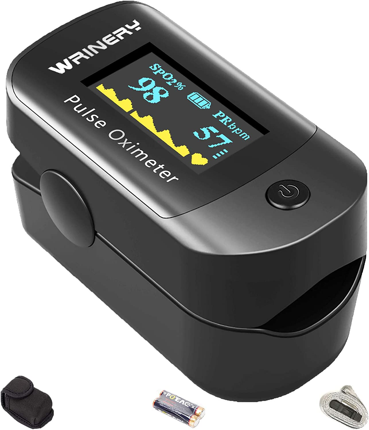 Blood Oxygen Saturation Monitor Equipment with Sleep Monitor Heart Rate Spo2 PR Pulse Portable Fingertip Pulse Monitor