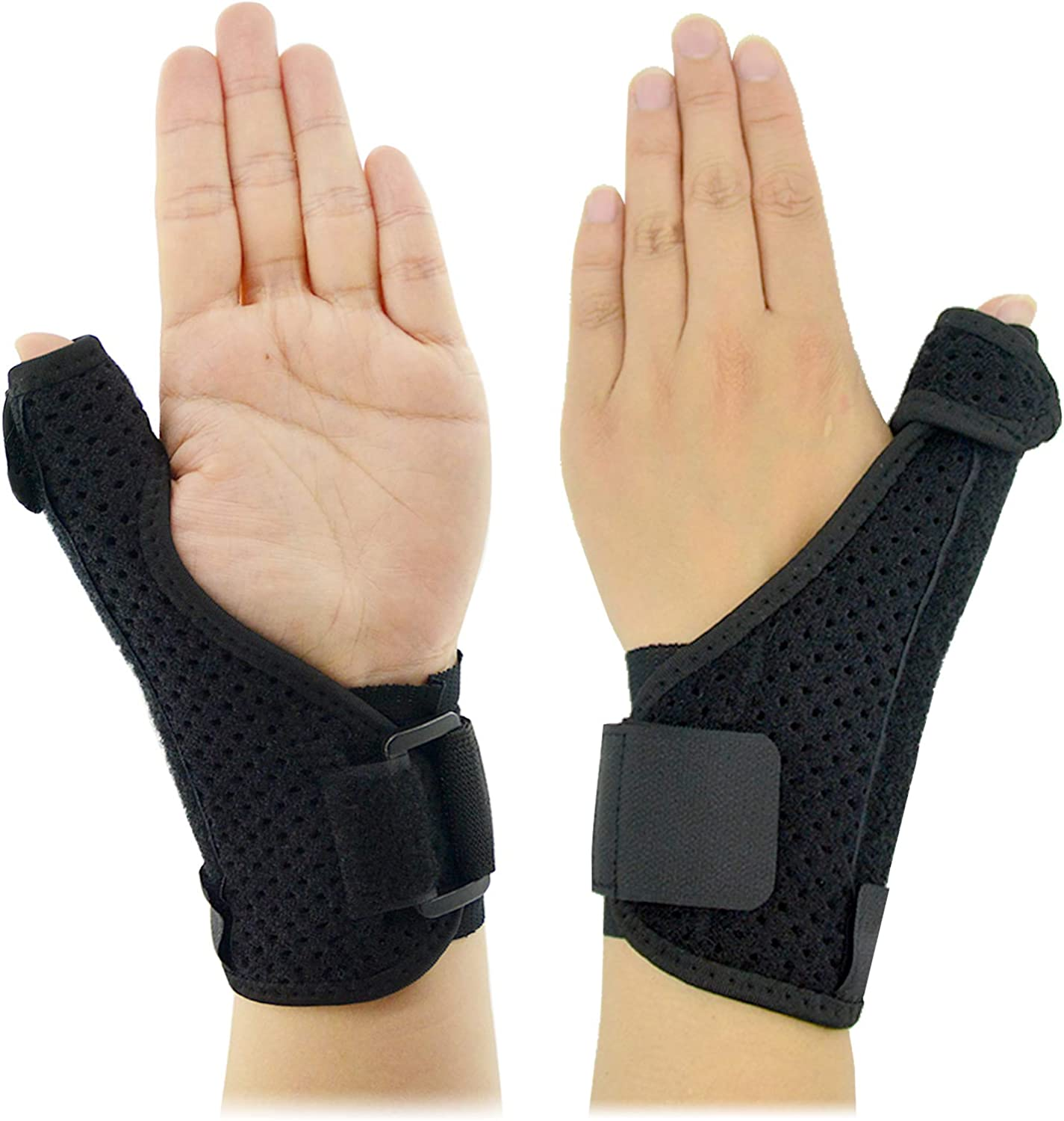 Thumb Splint Thumb Brace ?2021 Upgraded? Reversible Wrist Stabilizer Splint for BlackBerry Thumb Trigger Finger Pain Relief Arthritis Tendonitis Sprained and Carpal Tunnel Supporting Breathable 1PCS