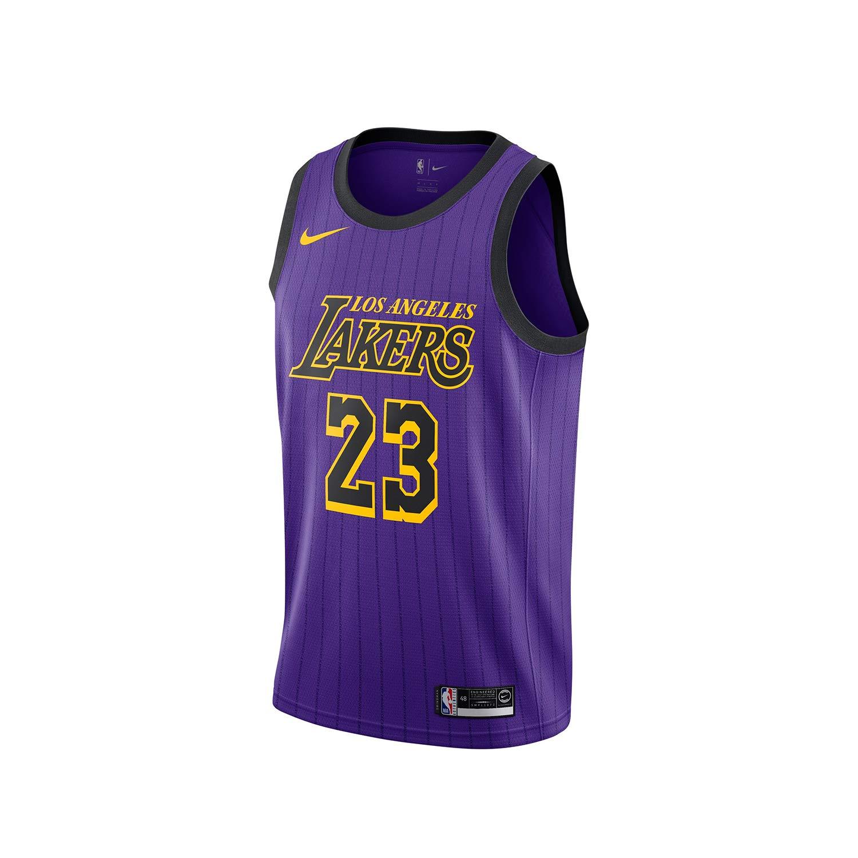 (ナイキ) 【子供用】NIKE NBA レプリカユニフォームジャージー 【YOUTH NBA 2018-19 SWINGMAN JERSEY CITY EDITION】 [並行輸入品] B07KJ9BPGZ XL レブロン ジェームス(パープル) レブロン ジェームス(パープル) XL