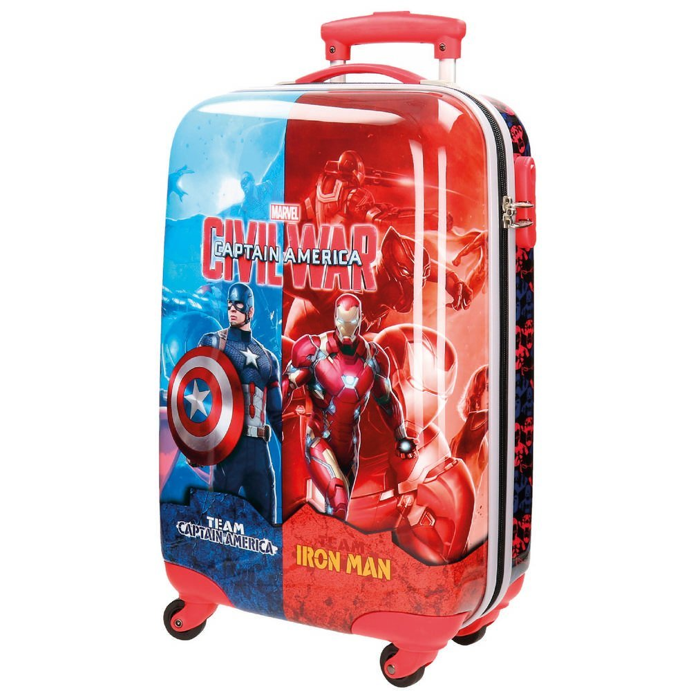 Marvel Kabinenkoffer Civil War Kindergepäck, 33 Liter, Rot