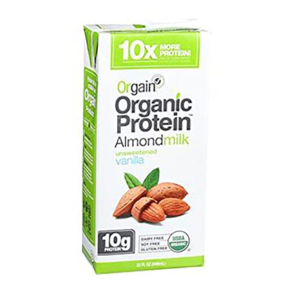 orgain – orgánico proteína leche de almendras ligeramente ...