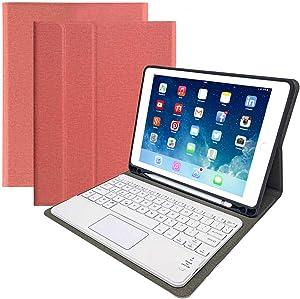 "iPad Keyboard Case for iPad Mini 4/iPad Mini 5 -Eoso iPad Cover with Keyboard Built-in Touchpad & Pencil Holder (7.9"", Pink)"