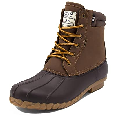 Nautica Mens Duck Boots - Waterproof Shell Insulated Snow Boot - Channing | Snow Boots