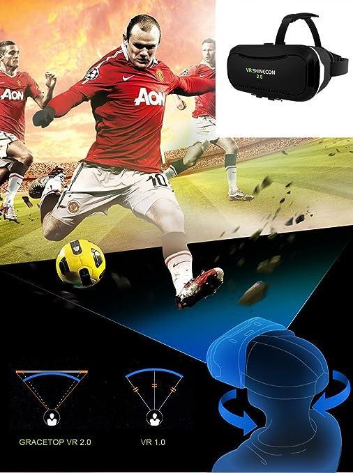 Amazon.com: Virtual Reality Headsets, VR SHINECON 2.0 3D VR ...