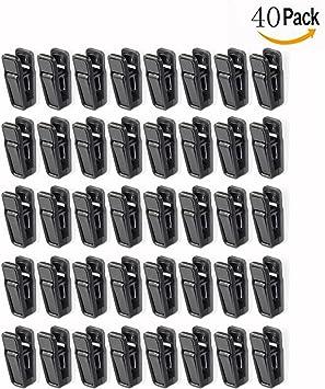 OFKPO 40PCS Juego de Clips de Plástico, para Tender los Pantalones, Camisas, Falda ect(Negro)