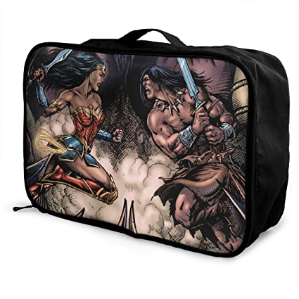 Wonder Woman and Conan Bolsa de Equipaje portátil de Gran ...