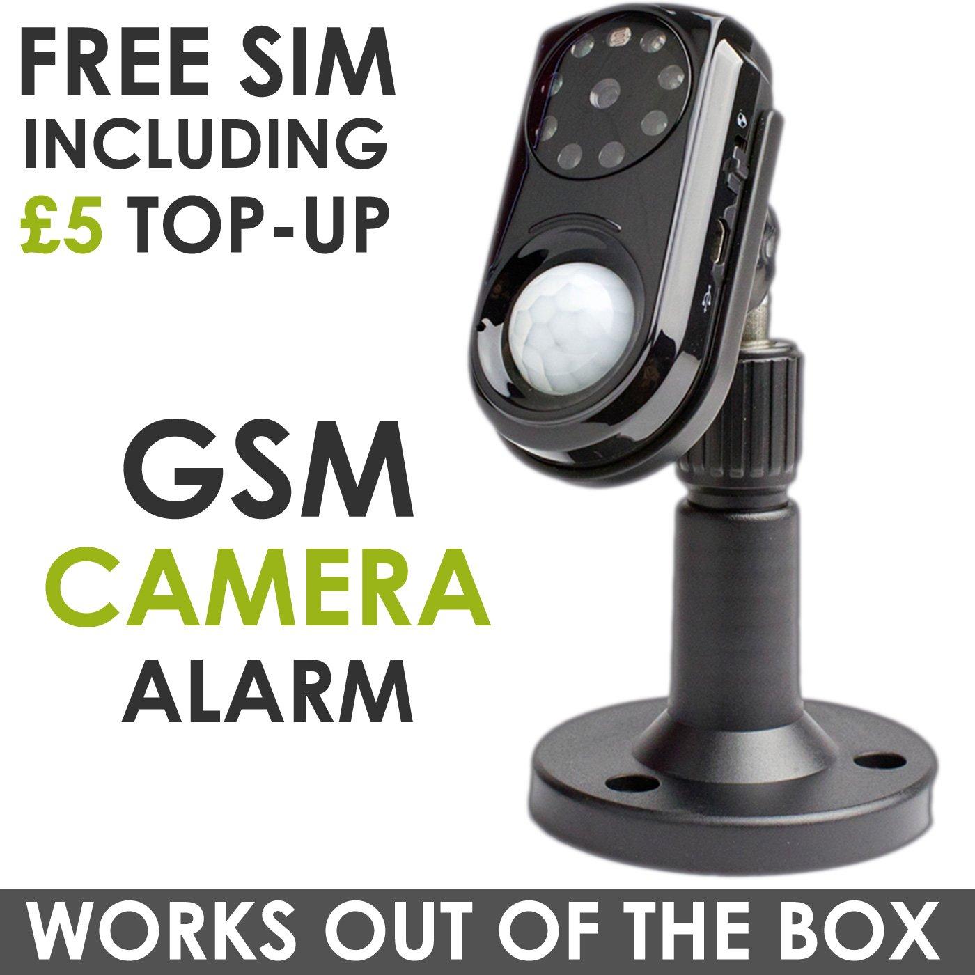 GSM SMS de alarma cámara MMS intruso infrarrojos detección ...