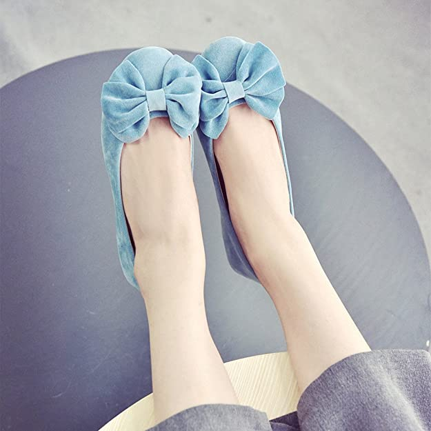 Longra Donne Bow mocassino-Gommino (EU Size:35, Blu)