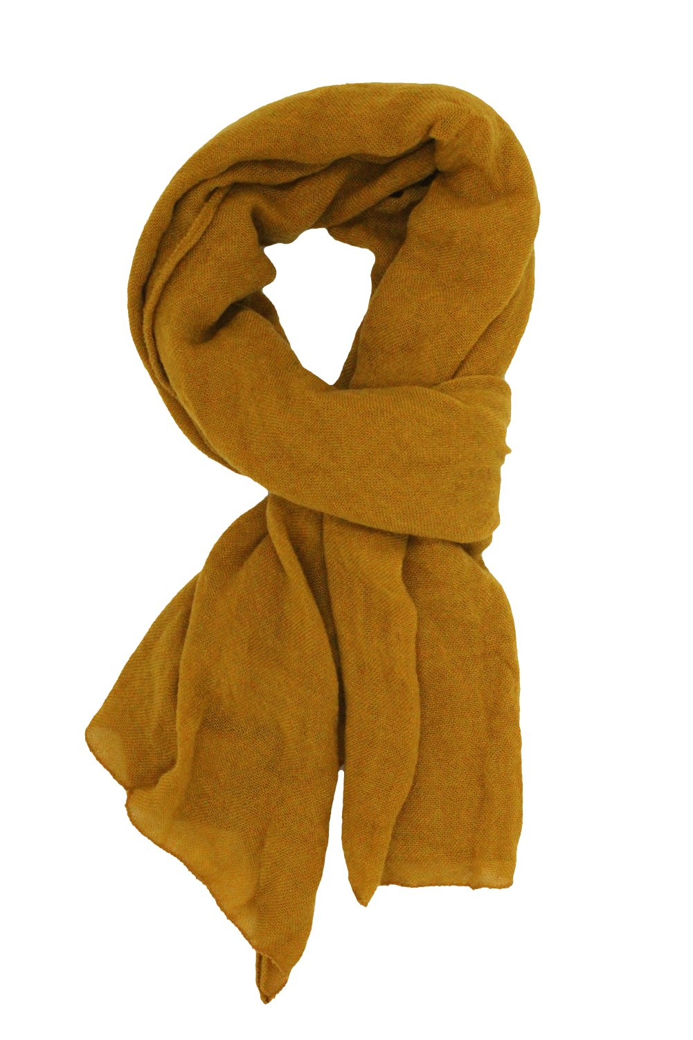 Soft Long Scarfs For Women Lightweight Warm Shawl Wrap Fall Blanket Solid Color (Deep Yellow)