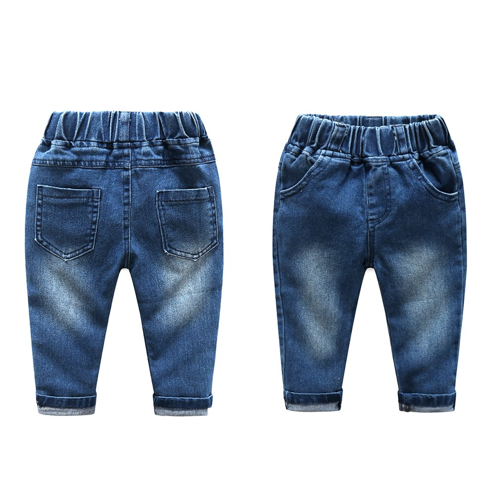 Kimocat Baby Boys Clothing Set Fashion Casual Suit Long Sleeve and Denim Pants (12-18month(90#)) by Kimocat (Image #4)