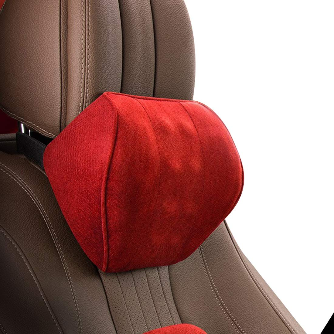 Casa perfecta Perfect House Seat Neck Pillow, car seat Ergonomic Cervical Spine Support Pillow, Long-Lasting Deformation, Breathable Memory Cotton. (Color : Red) by Casa perfecta