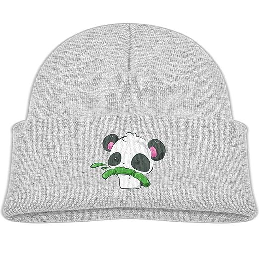bc968706a3e Amazon.com  Baby Beanie Hats Soft Knit Cap Kawaii s Panda Baby Eats ...