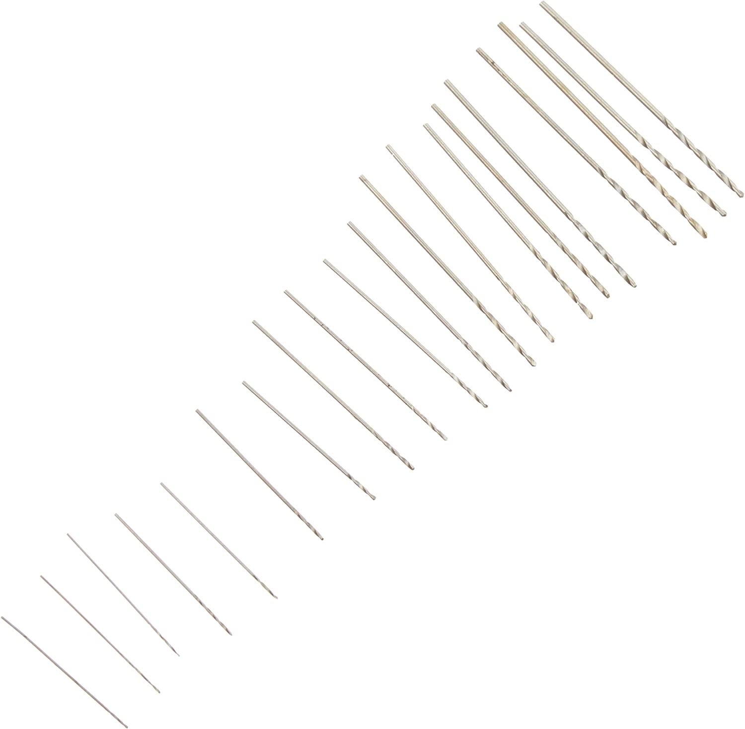 Kaufhof 06-00090 20 piece Tiny Small Drill Bits #61-80 Numbered Sizes High Speed Steel HSS Wire Gauge