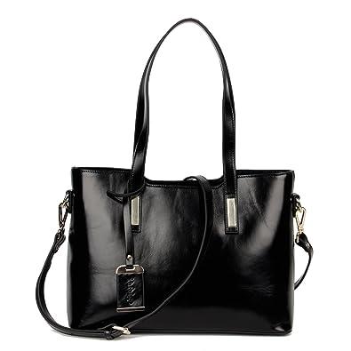 Yafeige Women's Handbags Vintage Genuine Leather Shoulder Bags ...