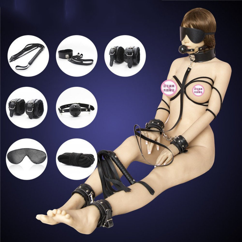 LSS BDSM productos para adultos juego de de juego peluche best leather binding 7 juguetes eróticos para parejas manos atadas cbeead
