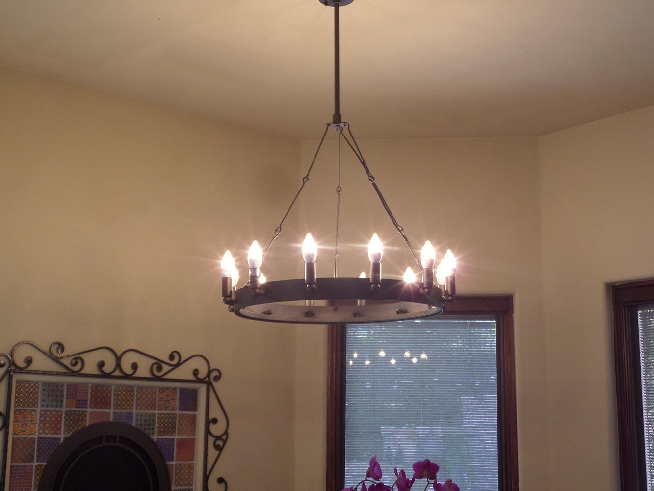 Y Decor LZ283512 Modern Brown Traditional Y D/écor 12 Light Iron Grey Chandelier Transitional