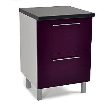 Vita Meuble de cuisine casserolier 60cm Violet - Alinea x60.0x88 ...