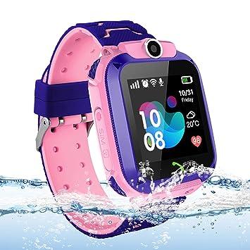 Vannico Localizador GPS Niños, Reloj GPS Niños Localizador Con SOS Anti-Lost Alarm Para Tarjeta Pantalla Táctil Smartwatch Para 3-12 Años De Edad ...