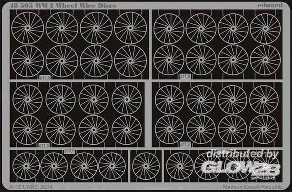 1:48 Eduard Photoetch For WWI Wheel Wire Discs   B009YK4WTM