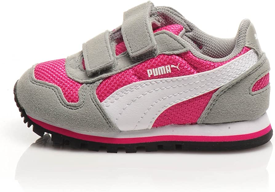 PUMA Sneaker St Runner V Kids GrigioFucsia EU 24: Amazon.it