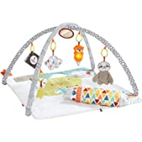 Fisher-Price GLK34 Perfect Sense Deluxe Gym, Plush Infant Play Mat with Toys