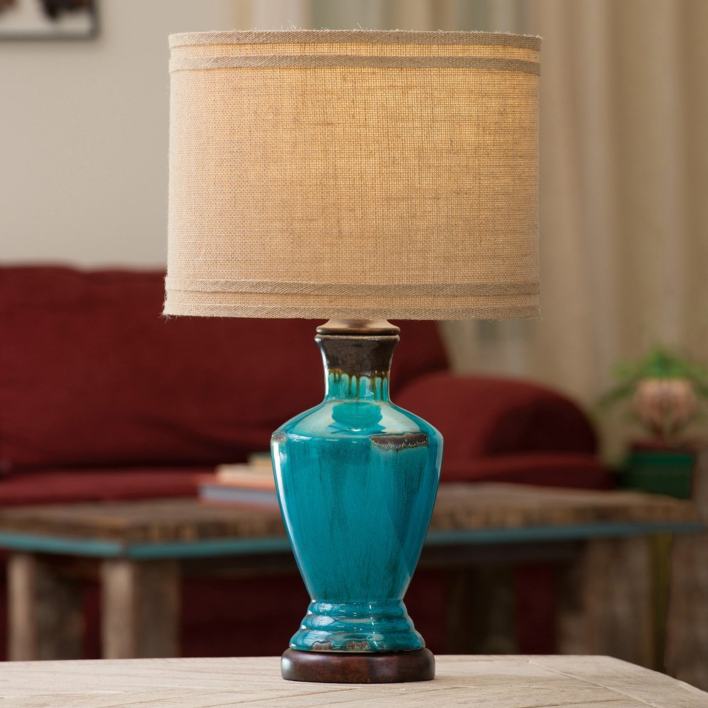 Black Forest Decor Turquoise River Table Lamp
