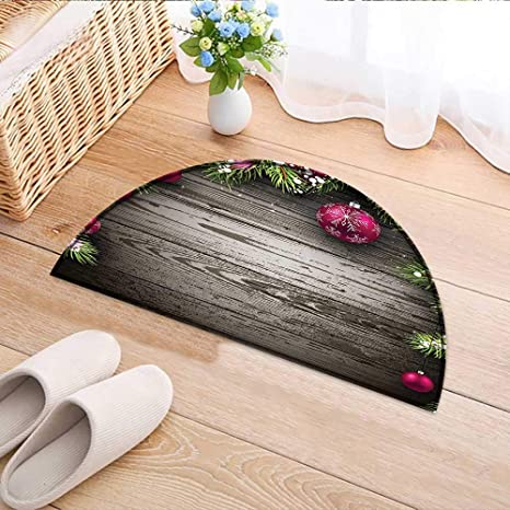 Semicircle Rugs For Bedroom Collection Old Fashioned Christmas Concept  Twigs And Balls On Rustic Wood Vintage