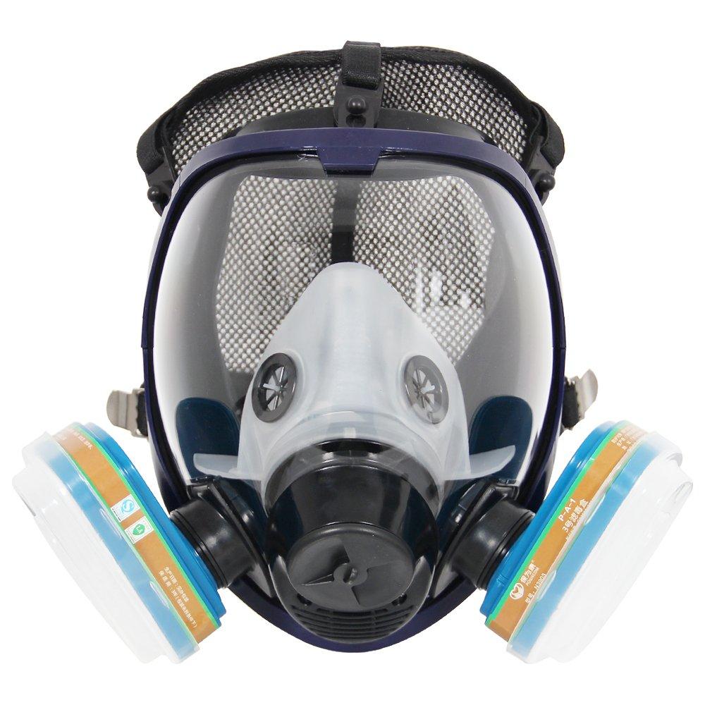 Má scara completa del respirador del juego completo 6800 para la pulverizació n de pintura, má scara quí mica del polvo, probada por la FDA, dos tipos de conectores máscara química del polvo Trudsafe