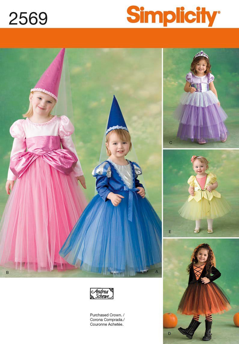Amazon.com: Simplicity Sewing Pattern 2569 Toddler and Child Costumes, BB  (4-5-6-7-8): Arts, Crafts & Sewing